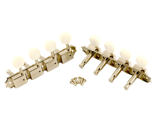 KLUSON SUPREME KTSM-A-NP A TYPE MANDOLIN TUNERS IN NICKEL W// PEARL BUTTONS