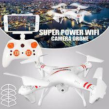 Cuadricóptero Blanco 6-Axis Cámara 0.3 MP Wi-fi FPV RC Drone Helicóptero Teledirigido Reino Unido