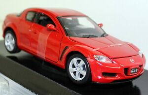 Motormax-1-24-escala-Mazda-RX8-RX-8-RHD-Red-Diecast-Modelo-de-Coche