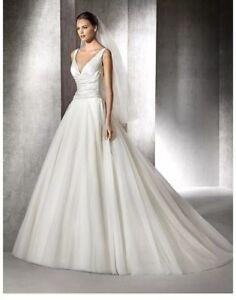 4d3a73d64b416 Wedding dress.blush/white San Patrick size 14 princess dress,satin ...