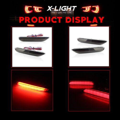 Smoked Lens dynamic LED Bumper Reflector Marker Light For Infiniti Q50 QX Nissan