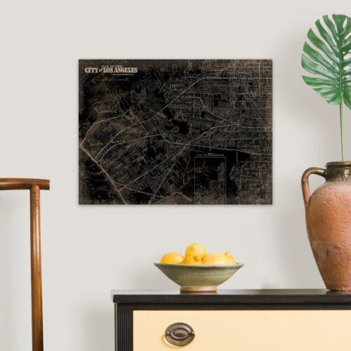 Твердый лицом холст печать настенное искусство под названием Лос-Анджелес карта