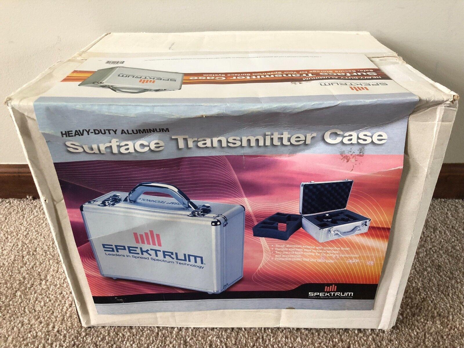 Brand Nuovo Heavy Duty Aluminum Deluxe Spektrum Surface Transmitter Case - SPM6704