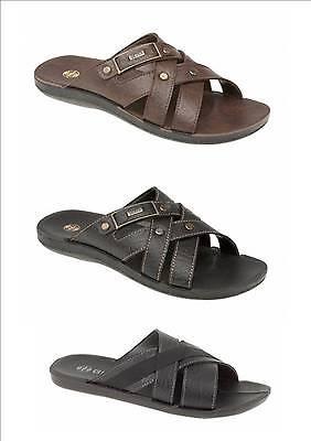 Para Hombre Sandalias Chinelas Sandalias Flip Flop Playa Negro o marrón Tamaños 7 8 9 10 11