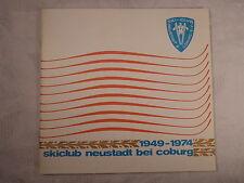 QUADERNO/prospetto Skiclub sci Neustadt in Coburg 1949-1974, 48 pagine