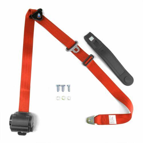 3pt Orange Retractable Seat Belts With Middle 2pt Lap Belt Kit For Bench Seat