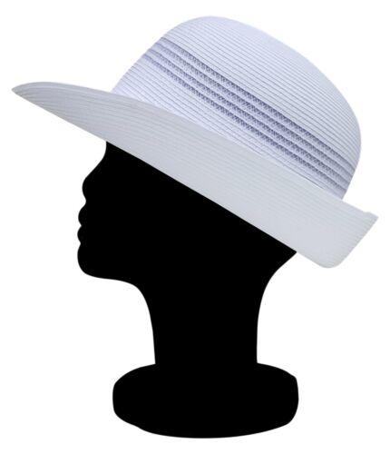 XL REO Headwear Natalie Ladies Sports White Summer Hat Turn Up Brim S