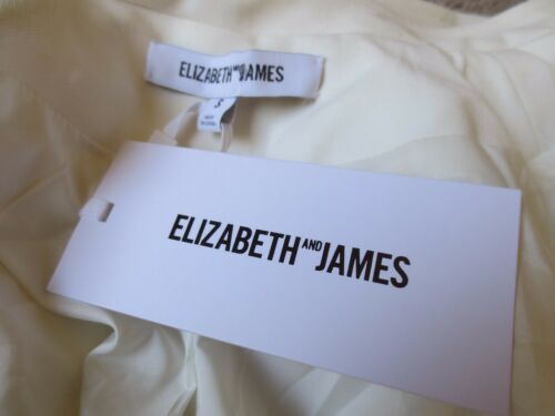 New Elizabeth James Ivory Moto zip Asymmetric Tags And Culkin Small 495 Jacket pOwxqpAz