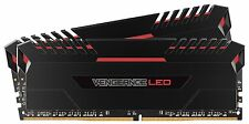 Corsair Vengeance 16GB (2x8GB) DDR4 3200 (PC4-25600) C16 for Intel 100, Red LED