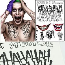 3pcs Batman The Joker Temporary Tattoos Suicide Squad Costume Fancy Sticker