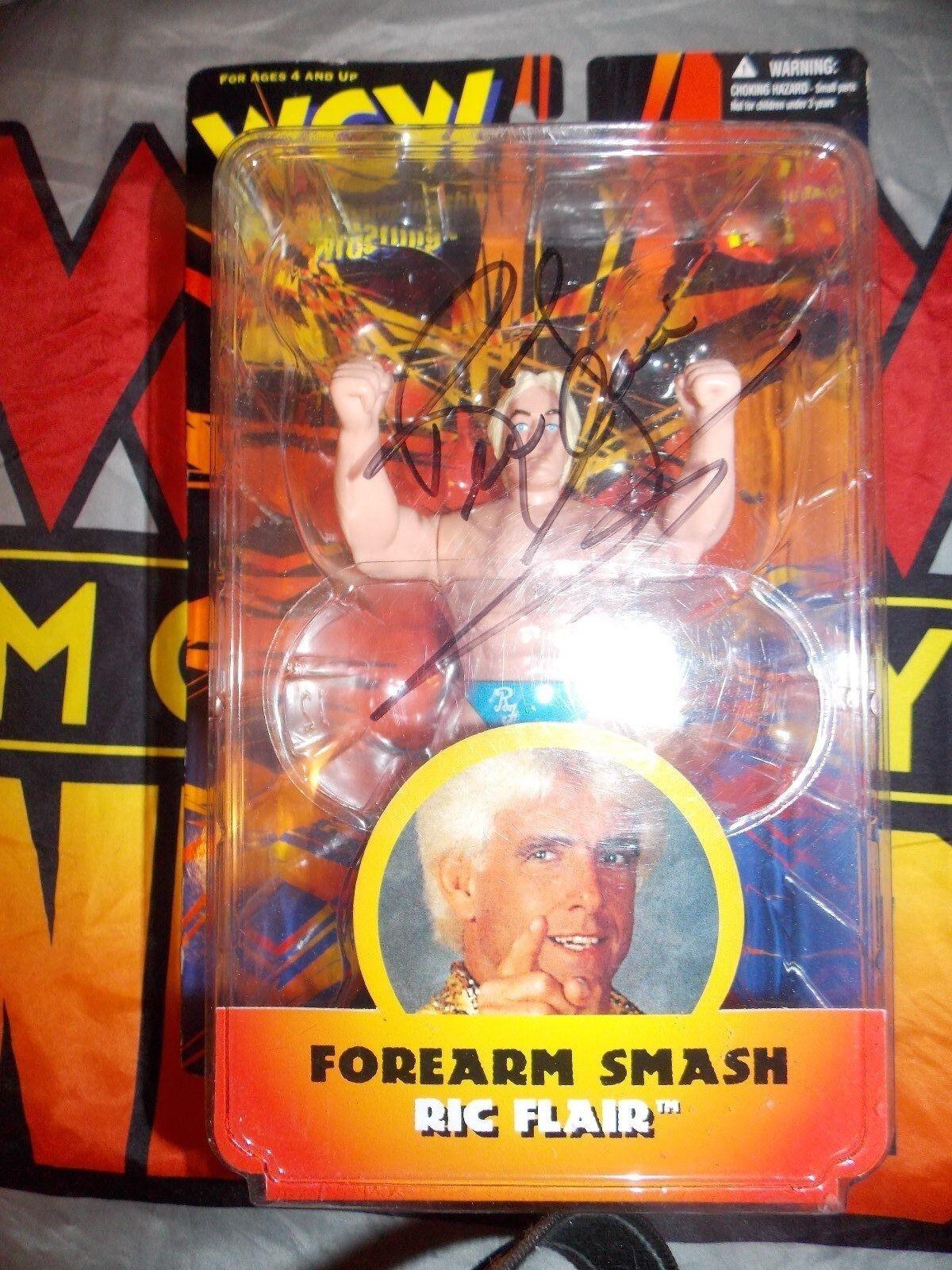 WCW OSFT Toymakers NATURE BOY RIC FLAIR Figure signé  dédicacé WWE WWF NWA  prix bas tous les jours