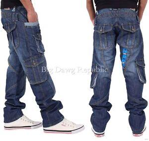 Peviani-Uomo-Designer-Combat-Jeans-Cargo-Pantaloni-Denim-tempo-e-denaro-tegndb