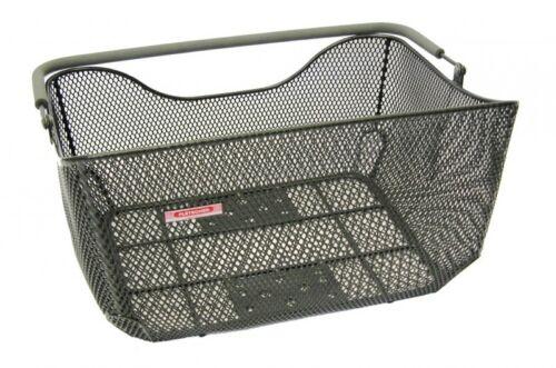 Pletscher cesta de bicicleta Deluxe negro estrechamente m sistema de sujeción asa de transporte