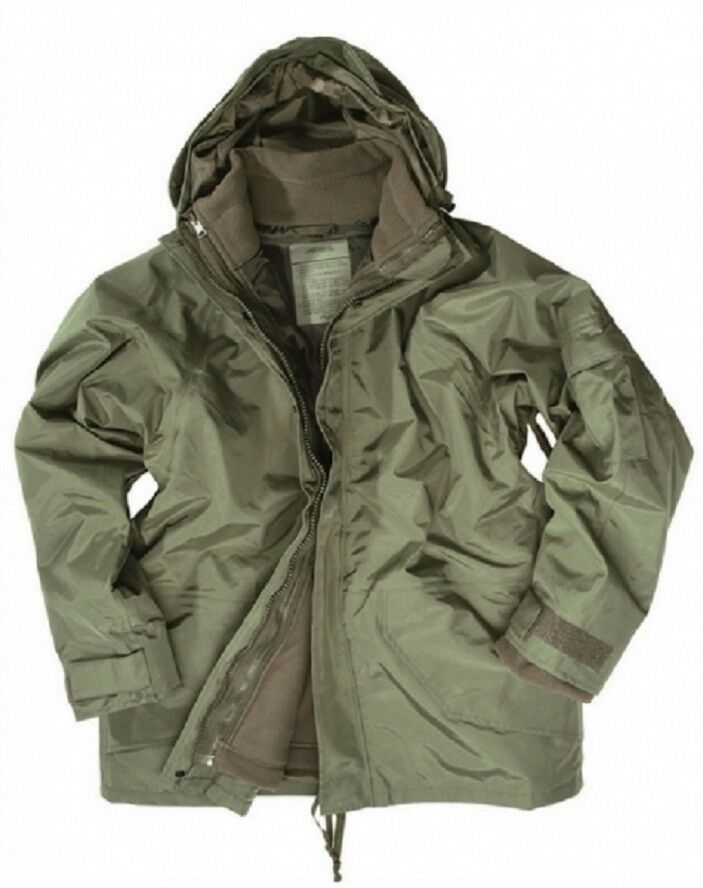 Us Ecwcs Cold wet weather humedad projoección Parka Army Fleece chaqueta verde oliva verde Xlarge