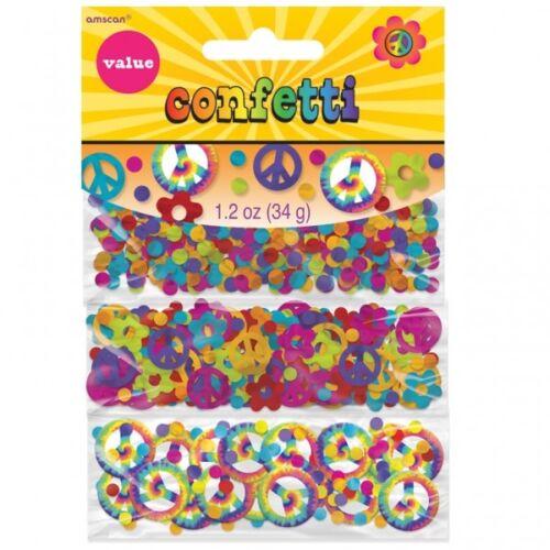 Flower Power 60er 70er Jahre Hippie Deko Set Servietten Confetti ...