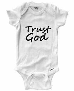 Baby-Infant-Bodysuit-Outfit-Gift-Print-Trust-God-Positive-Trust