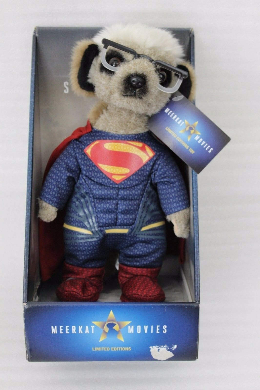 NUOVO Sergei as Superman BAMBOLA Meerkat Movies Clark Kent OFFICIAL