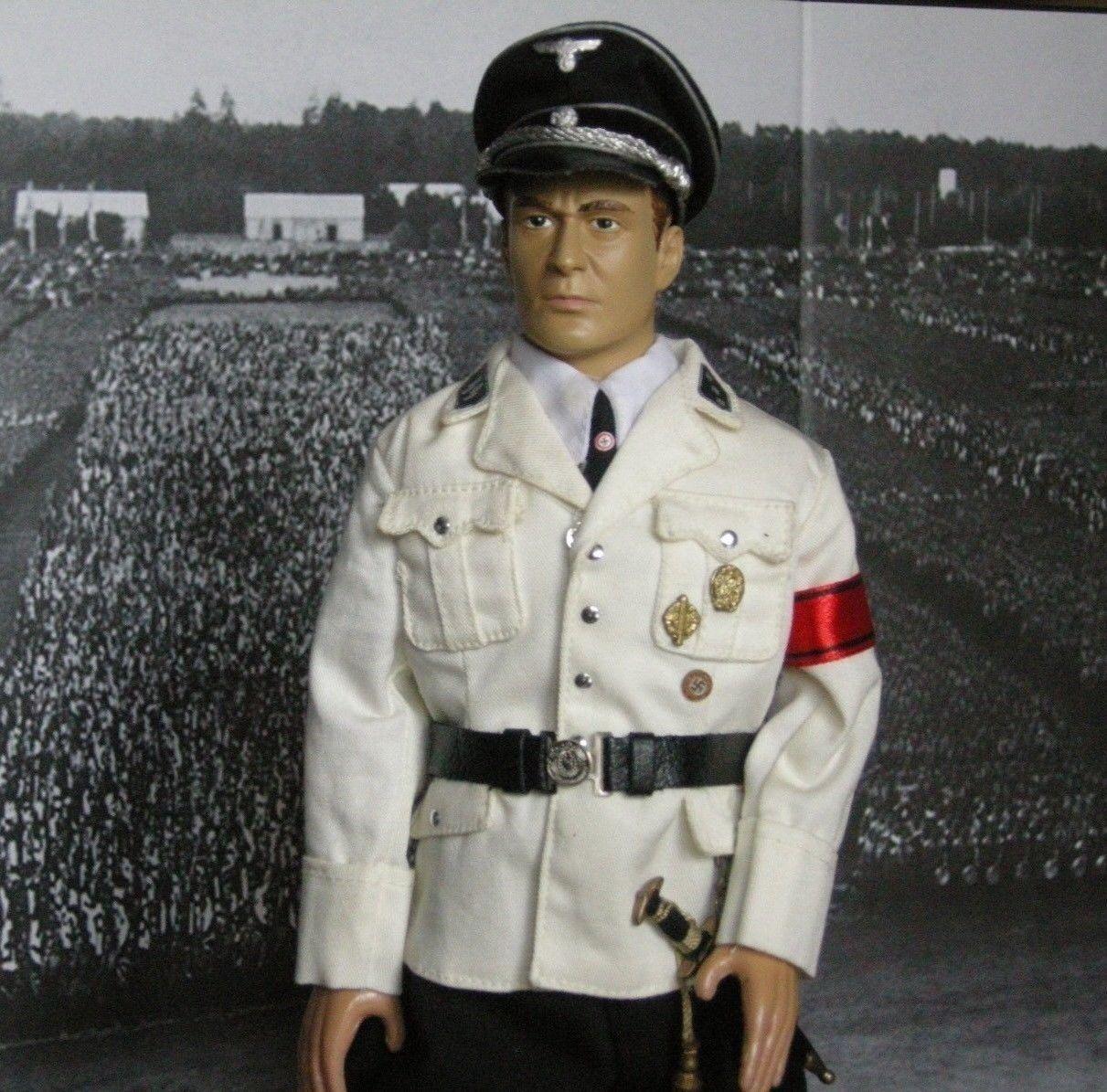 In The Past Toys (ITPT) WWII German Officer in Weiß SUMMER Uniform NIB