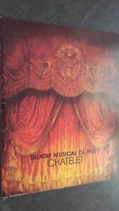 Folleto Dibujada Theatre Musical París Chatelet Buen Estado