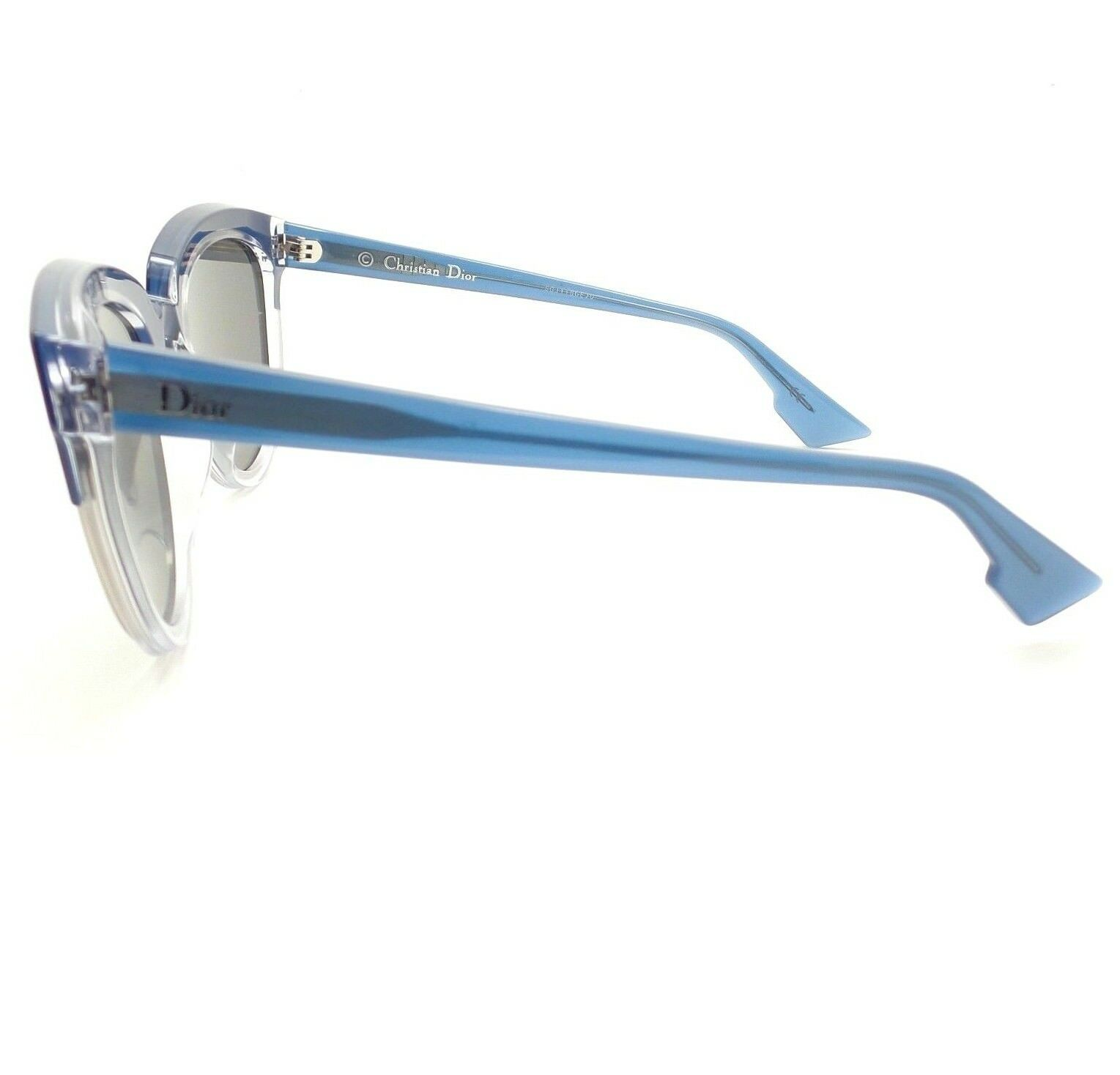 eed2a27768e04 Christian Dior Sight 1 Rent7 Blue Crystal Blue Mirror Sunglasses Authentic  for sale online