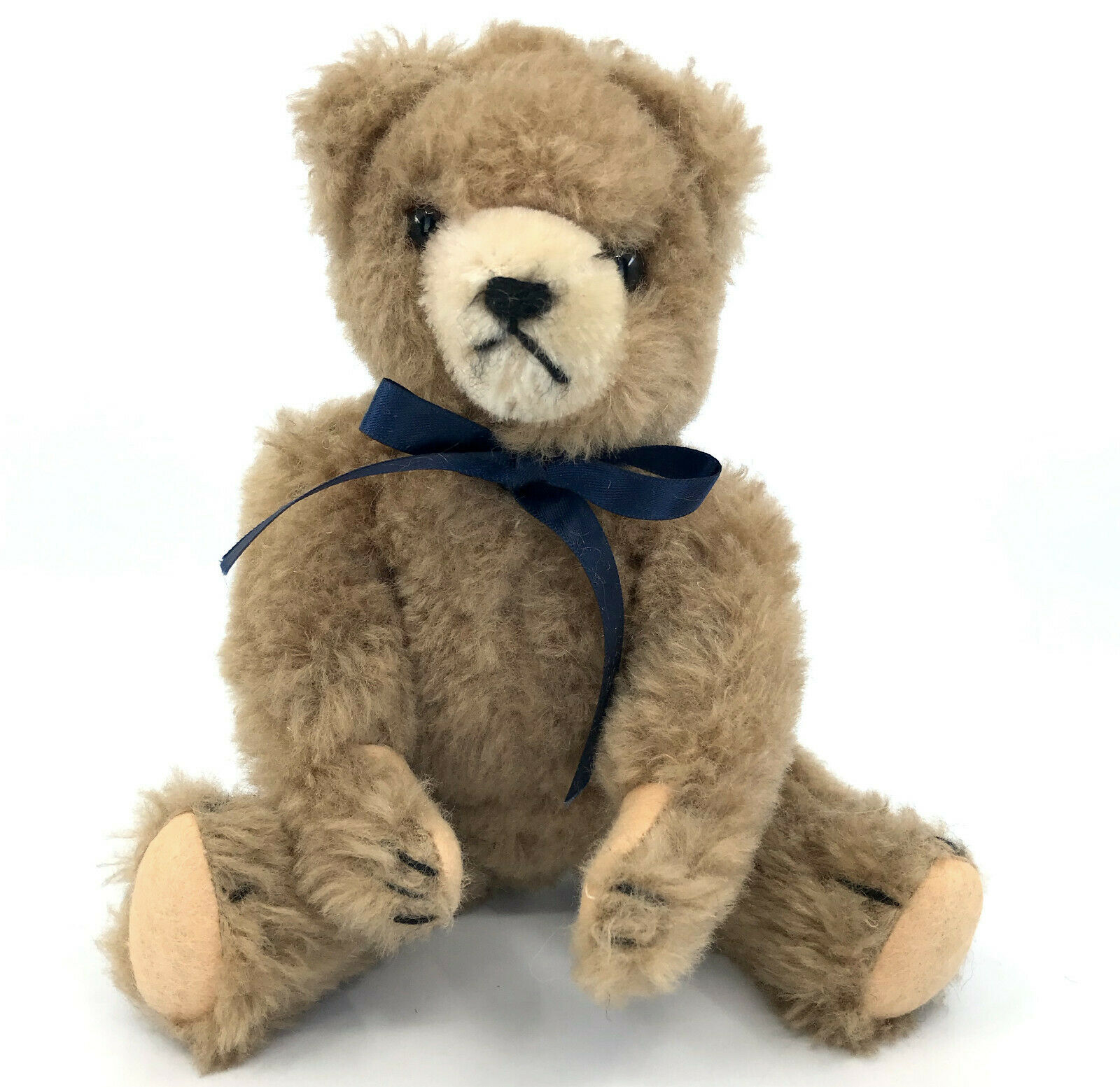 Vintage Dralon Plush Teddy Bear may be Hermann c1950s Squeaker 10in 25cm no ID