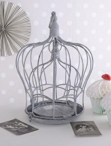 Zwei Metallhauben Blumenkäfig Shabby Chic Vogelkäfig Kerzenleuchter
