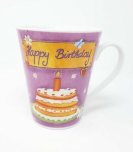 Image Is Loading Happy Birthday Cake Gift Cup Mug Candle Butterfly