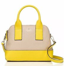 New $348 Kate Spade New York Southport Avenue Small Jenny Satchel Pearl Yellow