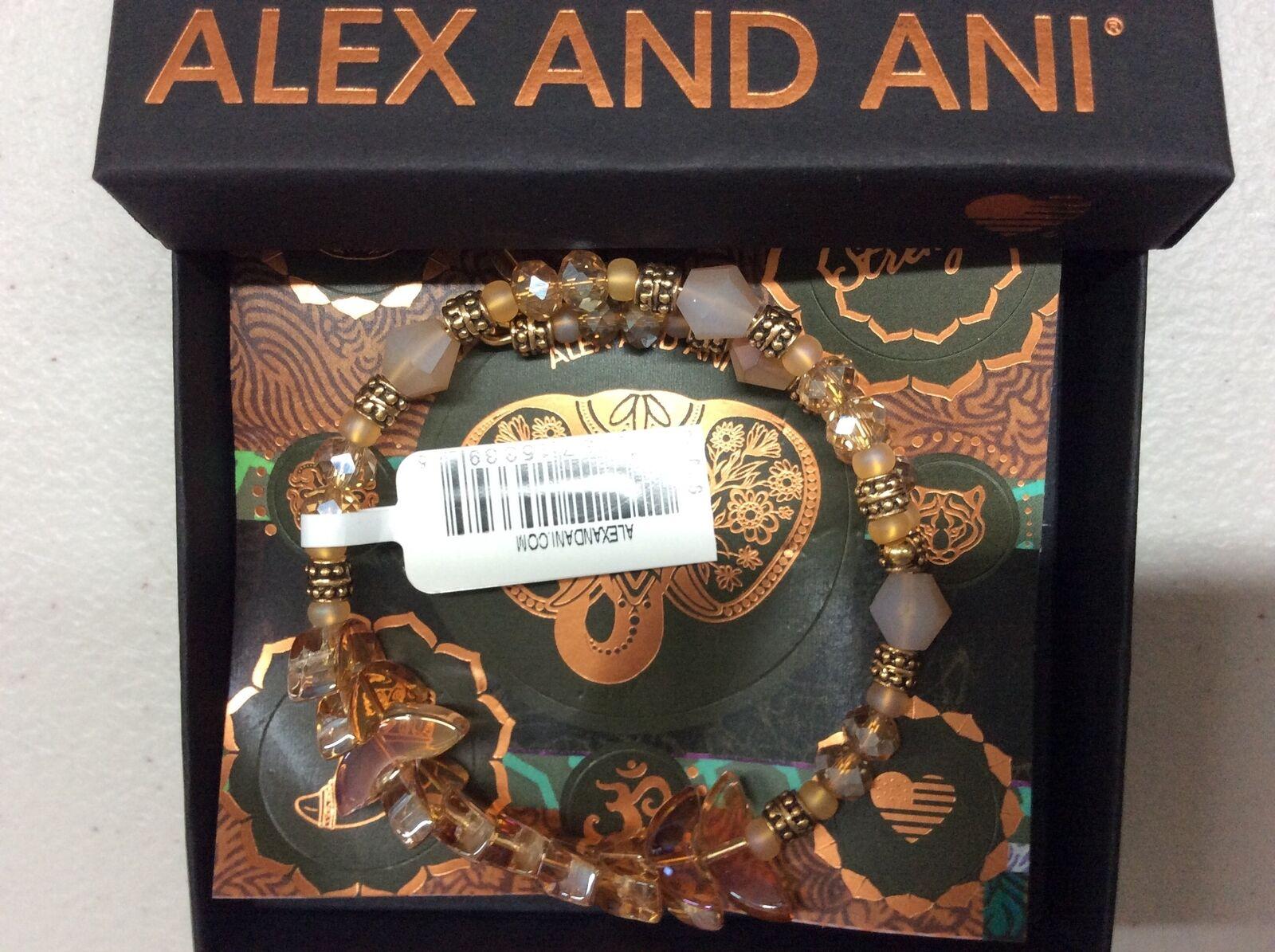 Alex e Ani Divinità Divinità Divinità Avvolto Honey Bracciale Rigido Rafaelian oro Nwtbc 300336