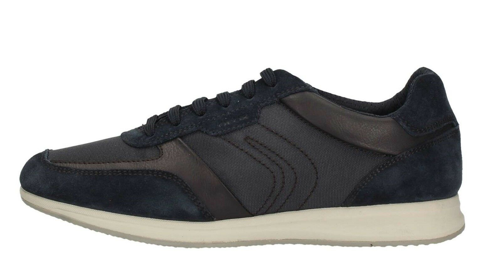 Geox Avery U82h5b Navy Men's shoes Sneakers bluee Leather Suede Fabric Casual