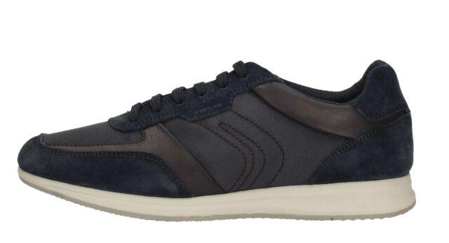 GEOX AVERY U82H5B NAVY scarpe uomo sneakers blu pelle camoscio tessuto casual