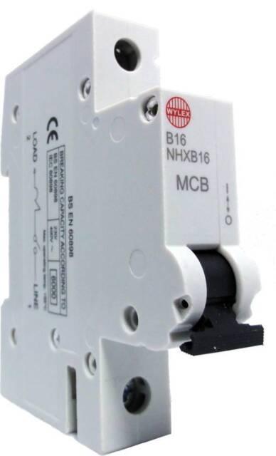 Wylex NHXB16 B16 6kA MCB BS 60898