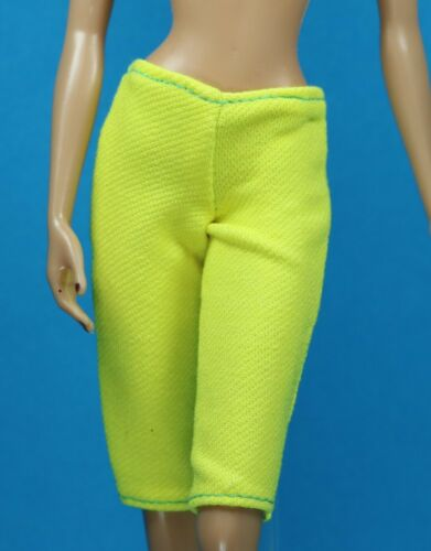 Sparkle Girlz Bright Yellow Blue Knit Leggings fits Barbie Model Muse Doll