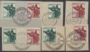 D-Reich-Nr-897-898-4-Saetze-sauber-gestempelt-auf-Briefstuecken-43979