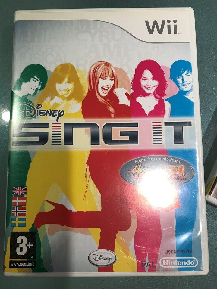 Sing it / We Sing inkl. mikrofon, Nintendo Wii, anden genre