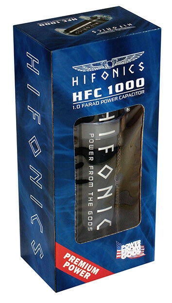 Hifonics Pufferelko 1 Farad HFC1000 Powercap Capacitor Puffer Condensator Elko