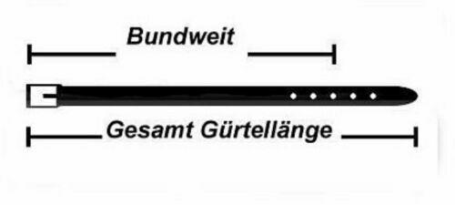 natur 3,5 cm breit Italbag Herren Leder Gürtel Rindleder