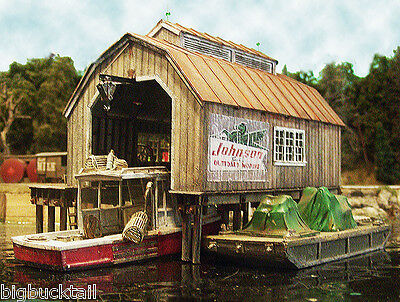 Bar Mills BOAT HOUSE at Cundy HarborKIT #1740 (HO-Scale) *FREE SHIPPING*