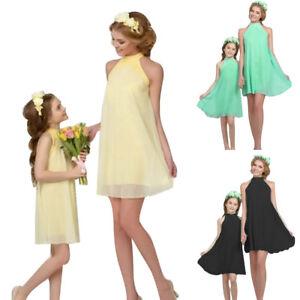 limitierte Anzahl so billig präsentieren Details zu Mutter Tochter Kleid Partnerlook Kinder Mädchen Damen  Partykleider Sommerkleid