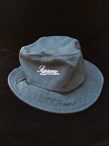 50ea64df6 Details about Supreme Zip Twill Crusher Bucket Hat - Green -SS18 -New With  Tags Dusty Teal M/L
