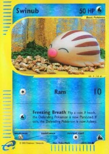 Swinub Common PL Skyridge Pokemon 107//144