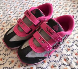 "3d720dc0dee92 Details about Disney Minnie Mouse Sneakers For Girls ""Pink & Black"" Size 10  ""NEW"" CUTE!!"