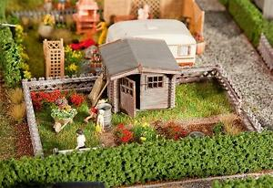 Faller-180492-Gauge-H0-Allotment-With-a-Small-Garden-Shed-New-Boxed