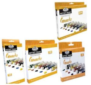 Royal Langnickel Set Di Grande 21ml Tubetti Guazzo Artista Colori & Pennello