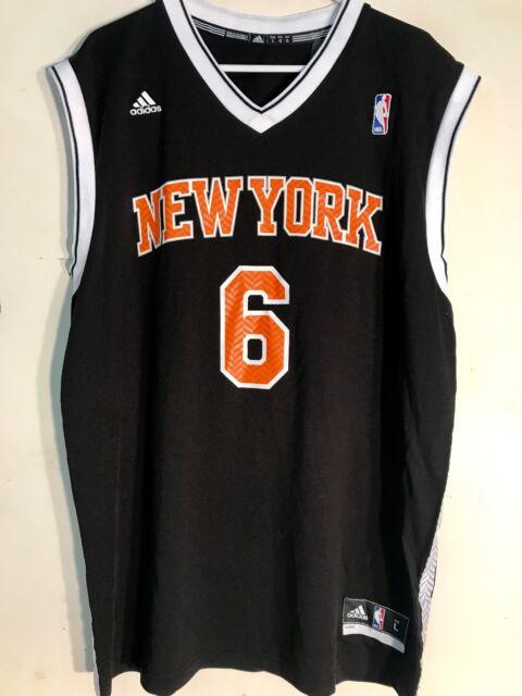 info for 19fa4 de7d7 Adidas NBA Jersey New York Knicks Kristaps Porzingis Black Alt sz S