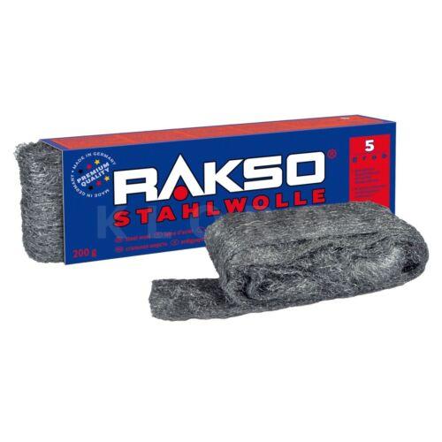 Rakso Stahlwolle   Sorte 5   Paket mit 200 g  010506 kostenloser Ve 39,50€//1kg