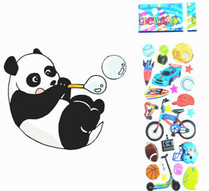 2018-Cartoon-Bicycle-Ball-Teacher-Reward-Bubble-Stickers-Kid-Favor-Gifts-UK