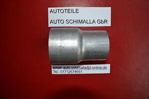 Auspuff Adapter Muffe Auspuffanlage Rohr Reduzierstück von 38mm in auf 44mm in