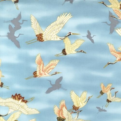 Fat Quarter Imperial Collection 9 Cranes Cotton Quilting Fabric  Robert Kaufman