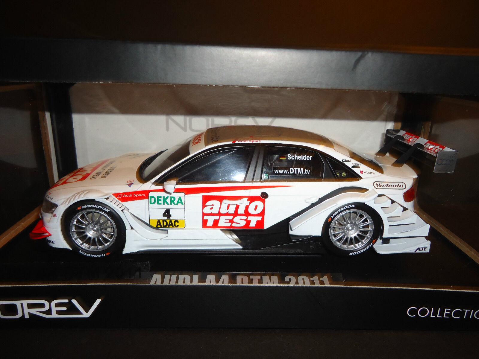 están haciendo actividades de descuento Norev Audi Audi Audi A4 Dtm   4 2011 Sport Team Abt timo Scheider 1 18  precios mas baratos